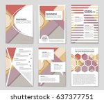 abstract vector layout... | Shutterstock .eps vector #637377751