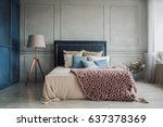 interior of cozy bedroom in... | Shutterstock . vector #637378369