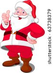 christmas santa claus with... | Shutterstock .eps vector #63738379