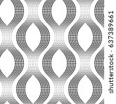 geometric seamless dotted... | Shutterstock .eps vector #637389661
