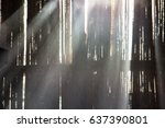 dust in the old mill with light ... | Shutterstock . vector #637390801