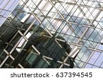 reflection on a glass wall | Shutterstock . vector #637394545