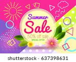 sale. summer. | Shutterstock .eps vector #637398631