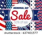 memorial day. sale. | Shutterstock .eps vector #637401577