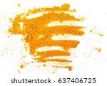 turmeric  curcuma  powder... | Shutterstock . vector #637406725