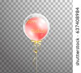 3d holiday white transparent... | Shutterstock .eps vector #637408984