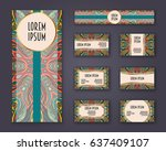 business cards  invitations and ... | Shutterstock .eps vector #637409107