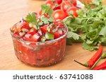 Fresh Hot Raw Salsa With...