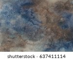 Blue Brown Watercolor Background