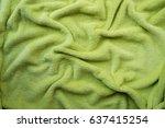 crumpled light green soft plush ... | Shutterstock . vector #637415254