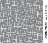 vector seamless pattern. modern ... | Shutterstock .eps vector #637416751