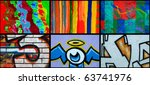 collage of different mural as... | Shutterstock . vector #63741976