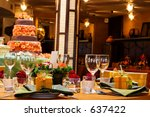 table setting with wine glasses ...   Shutterstock . vector #637422