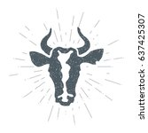 cow. animal husbandry. cow and...   Shutterstock .eps vector #637425307