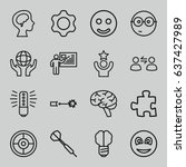 idea icons set. set of 16 idea... | Shutterstock .eps vector #637427989