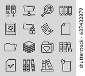 folder icons set. set of 16... | Shutterstock .eps vector #637432879