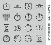 minute icons set. set of 16... | Shutterstock .eps vector #637432981