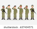 group of army  men and woman ...