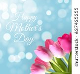 happy mother s day cute... | Shutterstock . vector #637435255