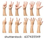 five counting male hands... | Shutterstock . vector #637435549