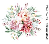 flower bouquet | Shutterstock . vector #637437961