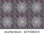 raster illustration. classic... | Shutterstock . vector #637438615