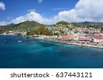 saint george city port in... | Shutterstock . vector #637443121