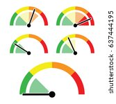set of speedometer indicators... | Shutterstock .eps vector #637444195