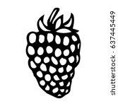 blackberry doodle style vector... | Shutterstock .eps vector #637445449
