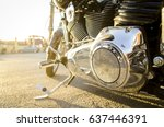 motorcycle in a sunny day. | Shutterstock . vector #637446391