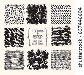 hand drawn vector textures  ... | Shutterstock .eps vector #637446604