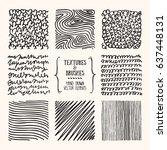 hand drawn textures   brush... | Shutterstock .eps vector #637448131