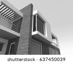 modern house 3d illustration | Shutterstock . vector #637450039