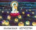 An Illustration Of A Buddha...
