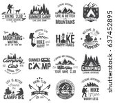 summer camp with design... | Shutterstock .eps vector #637452895