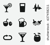 party icon. set of 9 party...