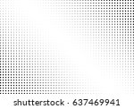 abstract halftone dotted... | Shutterstock .eps vector #637469941