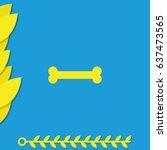 bone icon. | Shutterstock .eps vector #637473565