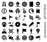 map icons set. set of 36 map... | Shutterstock .eps vector #637475014