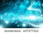 blue glitter and magic effect...   Shutterstock . vector #637477321