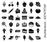 dessert icons set. set of 36...   Shutterstock .eps vector #637479769