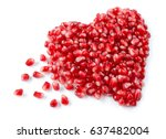 pomegranate. fresh raw seeds... | Shutterstock . vector #637482004