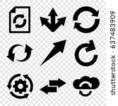 reload icons set. set of 9... | Shutterstock .eps vector #637483909