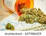 marijuana for medical use shot... | Shutterstock . vector #637486429