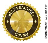 best practices award medal... | Shutterstock .eps vector #637486549