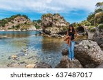 lagoon at isola bella  also... | Shutterstock . vector #637487017