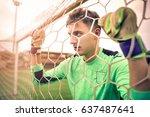 goalkeeper waiting | Shutterstock . vector #637487641
