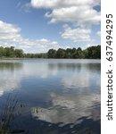 Cloud Reflection On Lake