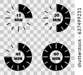 timer set with minutes  15  30  ... | Shutterstock .eps vector #637499251