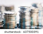 stack of coins stock financial... | Shutterstock . vector #637500391